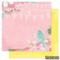 Лист двухсторонней бумаги Pink Paislee - Spring Jubilee Celebration, 30х30 см