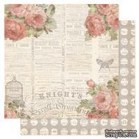 Лист двухсторонней бумаги Pink Paislee - London Market Addington, 30х30 см