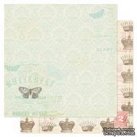 Лист двухсторонней бумаги Pink Paislee - London Market Royal Charm, 30х30 см