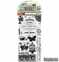 Акриловые штампы Pink Paislee - London Market Clear Stamps, 20 шт