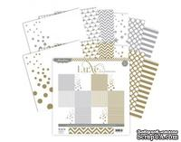 Набор бумаги от Pink Paislee - Luxe Collection - Paper Pack - 12x12 - Silver and Gold