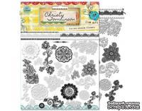 Натирки от Pink Paislee - She Art - Rub Ons - Doodle Flower