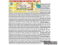Листы-фильтры от Pink Paislee - She Art - Printed Coffee Filter Sheets - Text - Текст на бумаге тишью, 6 шт.