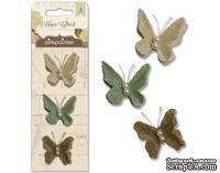 Бабочки от Pink Paislee - Hope Chest - Burlap Butterflies