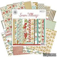 Набор бумаги от Pink Paislee - Snow Village - Paper Pad, 15x15 см.