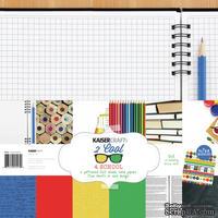 Набор бумаги от KaiserCraft - 2 Cool 4 School, 30 х 30 см