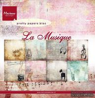 Набор бумаги Marianne Design - Marianne's Pretty Paper Bloc - La Musique, 15х15 см, 16 листов