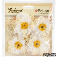 Набор объемных цветов Petaloo - Ruffled Peony - White