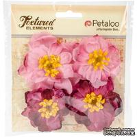 Набор объемных цветов Petaloo - Ruffled Peony - Fuchsia