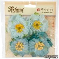 Набор объемных цветов Petaloo - Ruffled Peony - Teal