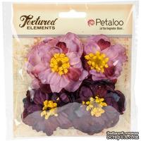 Набор объемных цветов Petaloo - Ruffled Peony - Purple