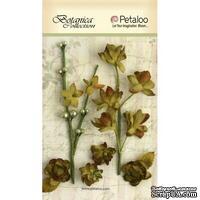 Набор объемных цветов Petaloo - FloralEphemera - Moss Green