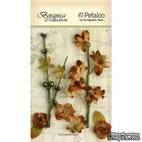 Набор объемных цветов Petaloo - FloralEphemera - Brown
