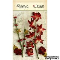 Набор объемных цветов Petaloo - FloralEphemera - Red