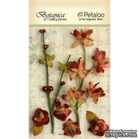 Набор объемных цветов Petaloo - FloralEphemera - Cranberry