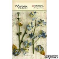 Набор объемных цветов Petaloo - FloralEphemera - Grey/Blue