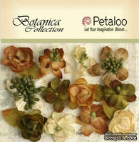 Набор объемных цветов Petaloo - Botanica Minis x 11 - Ivory/Green/Brown