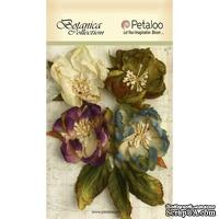 Набор объемных цветов Petaloo - Botanica Blooms x 4 - Grey/Blue/Purple/Green