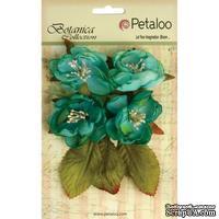 Набор объемных цветов Petaloo - Botanica Blooms x4 - Teal