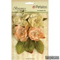 Набор объемных цветов Petaloo - Botanica Blooms x4 - Peach