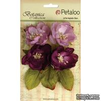 Набор объемных цветов Petaloo - Botanica Blooms x4 - Lavender and Purple
