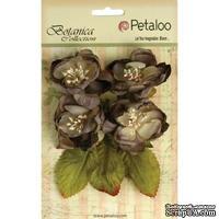 Набор объемных цветов Petaloo - Botanica Blooms x4 - Charcoal Gray