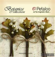 Набор объемных цветов Petaloo - Botanica Berry clusters x 3 - Ivory/Green/Ivory