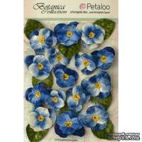 Набор объемных цветов (анютины глазки) Petaloo - Velvet Pansies x 15 - Royal Blue