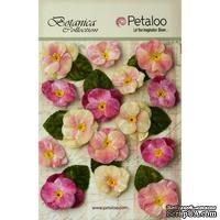 Набор объемных цветов (анютины глазки) Petaloo - Velvet Pansies x 15 - Mauve