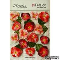 Набор объемных цветов (анютины глазки) Petaloo - Velvet Pansies x 15 - Red