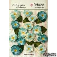 Набор объемных цветов (анютины глазки) Petaloo - Velvet Pansies x 15 - Teal