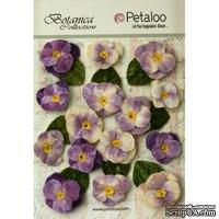 Набор объемных цветов (анютины глазки) Petaloo - Velvet Pansies x 15 - Lavender/Purple