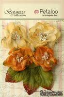 Набор объемных цветов Petaloo - ugared Blooms - Gold Sienna
