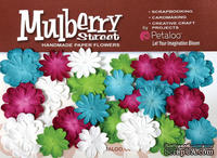Набор цветов Petaloo - Mini Mulb.Paper Delphiniums - Teal/Fusch/Chart/White