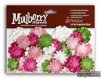 Набор цветов Petaloo- New Mini Mulb.Paper Delphiniums - Pink/Wht/Chart/Fusch