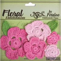 Набор вязаных цветов Petaloo - Crocheted Flowers Collection Pinks