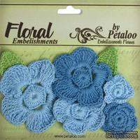 Набор вязаных цветов Petaloo - Crocheted Flowers Collection Blues