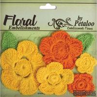 Набор вязаных цветов Petaloo - Crocheted Flowers Collection Yellows / Oranges