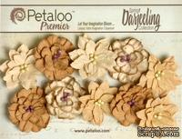 Набор цветов (георгин) Petaloo - Darjeeling Collection - Dahlias - Shabby Beige - ScrapUA.com