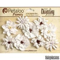 Набор объемных цветов Petaloo - Printed Darjeeling Collection - Wild Blossoms - White