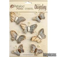 Набор бабочек Petaloo - Printed Darjeeling Collection - Wild Butterflies - Soft Grey