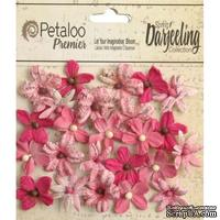 Набор цветов Petaloo - Printed Darjeeling Collection - Wild Mini Blossoms - Fuschia