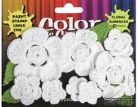 Набор вязаных цветов Petaloo - Color Me Crazy All White, 12 штук
