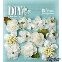 Набор объемных цветов Petaloo - DIY - Botanica Minis x 11 - White