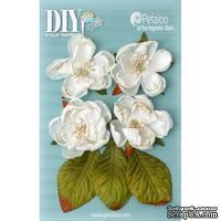Набор объемных цветов Petaloo - DIY - Botanica Blooms x 4 - White