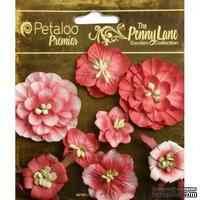 Набор объемных цветов Petaloo - Penny Lane Collection - Mixed Blossoms - Antique Red