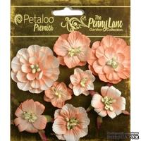Набор объемных цветов Petaloo - Penny Lane Collection - Mixed Blossoms - Antique Peach