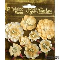 Набор объемных цветов Petaloo - Penny Lane Collection - Mixed Blossoms - Antique Gold