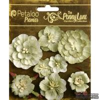 Набор объемных цветов Petaloo - Penny Lane Collection - Mixed Blossoms - Antique Green
