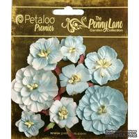 Набор объемных цветов Petaloo - Penny Lane Collection - Mixed Blossoms - Robin Egg Blue